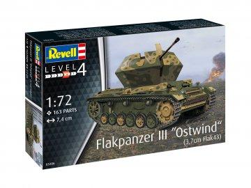 Flakpanzer III - Ostwind (3,7cm Flak 43) · RE 03286 ·  Revell · 1:72