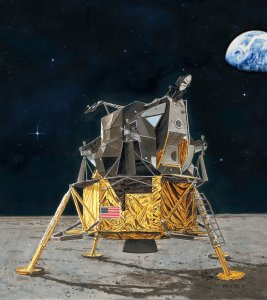 Apollo 11 Lunar Module Eagle · RE 03701 ·  Revell · 1:48