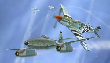Combat Set Messerschmitt Me 262 & P-51B Mustang · RE 03711 ·  Revell · 1:72