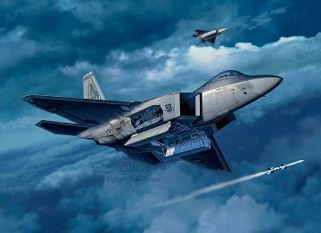 Lockheed Martin F-22A Raptor · RE 03858 ·  Revell · 1:72