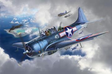 SBD-5 Dauntless Navyfighter · RE 03869 ·  Revell · 1:48
