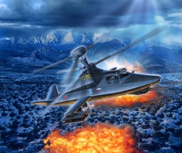 Kamov Ka-58 Stealth · RE 03889 ·  Revell · 1:72