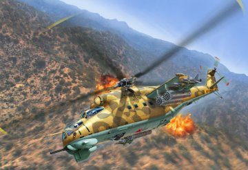Mil Mi-24D Hind · RE 04951 ·  Revell · 1:100