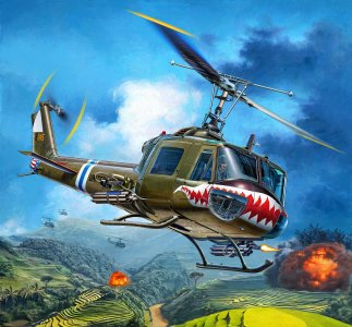 Bell UH-1C · RE 04960 ·  Revell · 1:35