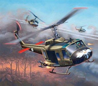 Bell UH-1H Gunship · RE 04983 ·  Revell · 1:100