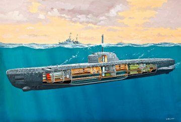 U-Boot Typ XXI U 2540 mit Inneneinrichtung · RE 05078 ·  Revell · 1:144