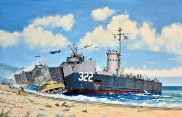 US Navy Landing Ship Medium (Bofors 40mm gun) · RE 05169 ·  Revell · 1:144