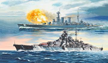 Battle Set HMS HOOD vs. BISMARCK- 80th Anniversary · RE 05174 ·  Revell · 1:700