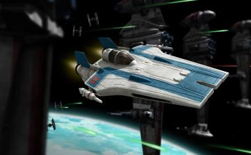 Resistance A-wing Fighter, blue version · RE 06773 ·  Revell · 1:44