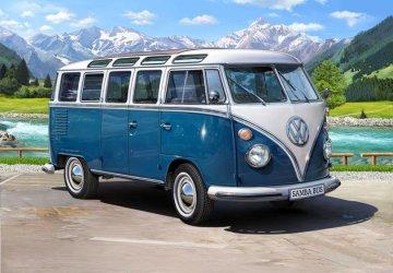 VW Typ 2 T1 Samba Bus · RE 07009 ·  Revell · 1:16