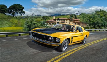 1969 Boss 302 Mustang · RE 07025 ·  Revell · 1:25