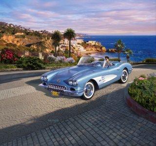 ´58 Corvette Roadster · RE 07037 ·  Revell · 1:25