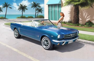 ´64 Mustang Convertible · RE 07190 ·  Revell · 1:24