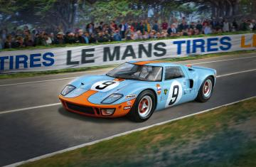 Ford GT 40 Le Mans 1968 - Platinum Edition · RE 07696 ·  Revell · 1:24