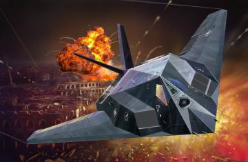 Model Set F-117A Nighthawk Steal · RE 63899 ·  Revell · 1:72