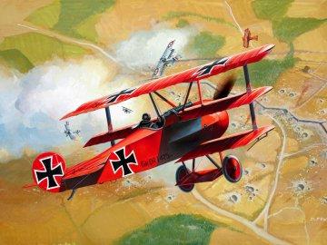 Model Set Fokker DR.1 Triplane · RE 64116 ·  Revell · 1:72