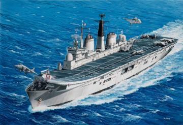 Model Set - HMS Invincible (Falkland War) · RE 65172 ·  Revell · 1:700