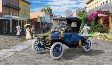 Model Set - Ford T Modell Roadster (1913) · RE 67661 ·  Revell · 1:24