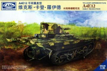 VCL Light Amphibious Tank A4E12 Eary Pr Production (Cantonese Troops,Nation) · RII CV35001 ·  Riich Models · 1:35