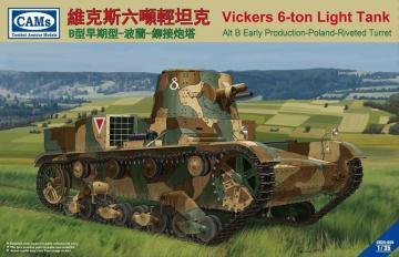 Vickers 6-Ton light tank (Alt B Early Production-Poland-Riveted Turret · RII CV35005 ·  Riich Models · 1:35