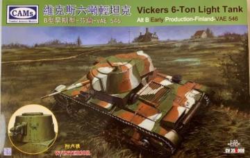 Vickers 6-Ton Light Tank Alt B Early Produktion-Finland-VAE 546 · RII CV35A008 ·  Riich Models · 1:35