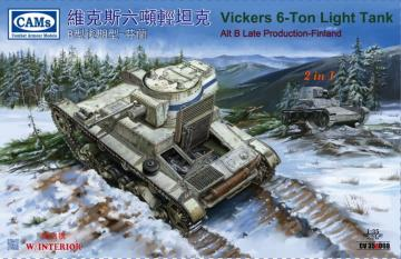 Finnish Vickers 6-Ton light tank Alt B Late Production (with interior) (2 in 1) · RII CV35A009 ·  Riich Models · 1:35