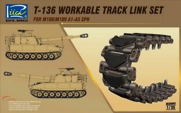 T-136 Workable Track set for M108/M109A1 -A5 SPH · RII RE30002 ·  Riich Models · 1:35