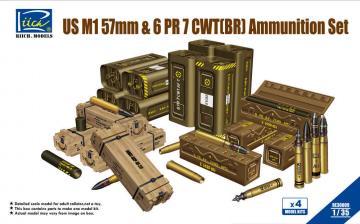 US M1 57mm & 6 PR 7 CWT(BR) Ammunition Set · RII RE30009 ·  Riich Models · 1:35
