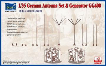 German Antenna Set & GG400 Generator (Model kits x2) · RII RE30014 ·  Riich Models · 1:35