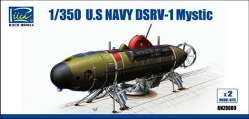 U.S.Navy DSRV-1 Mystic (Model Kits X2) · RII RN28009 ·  Riich Models · 1:350