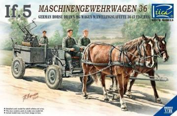 WWII German IF-5 Horse Drawn MG Wagon wi with Zwillingslafette36 · RII RV35012 ·  Riich Models · 1:35