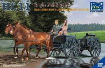 German Horses Drawn Large Field Kitchen Hf.11 (two horses&one figure,one dog · RII RV35013 ·  Riich Models · 1:35