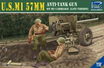 U.S.M1 57mm Anti-tank Gun on M2 carriage Late Version · RII RV35020 ·  Riich Models · 1:35