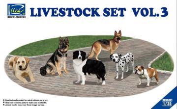 Livestock Set Vol.3 (six dogs) · RII RV35021 ·  Riich Models · 1:35