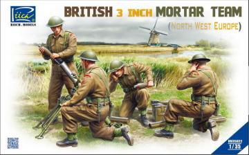 British 3 inch Mortar Team set (North West Europe) · RII RV35022 ·  Riich Models · 1:35
