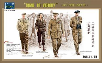 WWII Britis Leader set (Road to Victory) · RII RV35023 ·  Riich Models · 1:35