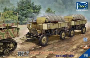 German Hf.7 steel field wagen (trailer) with resin parts (Dual pack) · RII RV35041 ·  Riich Models · 1:35