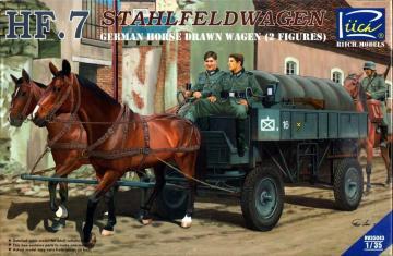German Hf.7 Horse drawn Steel field wage w/2Horses &2 Figures · RII RV35043 ·  Riich Models · 1:35
