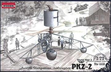PKZ-2 Austro-Hungarian Helicopter World War 1 · RD 008 ·  Roden · 1:72
