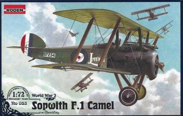 Sopwith F.1 Camel w/Bentley · RD 053 ·  Roden · 1:72