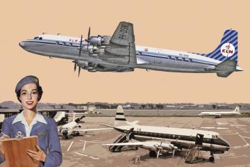 Douglas DC-7C Royal Dutch Airlines (KLM) · RD 302 ·  Roden · 1:144