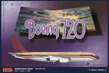Boeing 720 Startship OneMusic series · RD 314 ·  Roden · 1:144