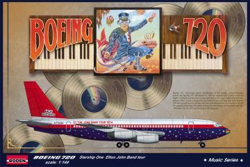 Boeing 720 Elton John 1974 · RD 315 ·  Roden · 1:144