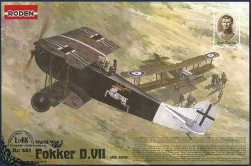 Fokker D.VII (Albatros built, early) Carl Degelow · RD 421 ·  Roden · 1:48