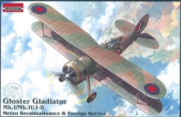 Gloster Gladiator Mk.I/Mk.II/J-8 Meteo Reconnaissance · RD 438 ·  Roden · 1:48