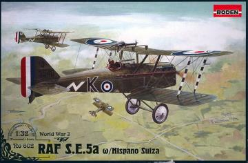 RAF S.E.5a w/Hispano Suiza · RD 602 ·  Roden · 1:32