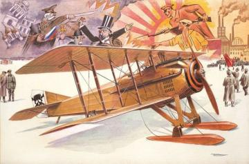 Spad VII c.1 with Russian skies · RD 617 ·  Roden · 1:32