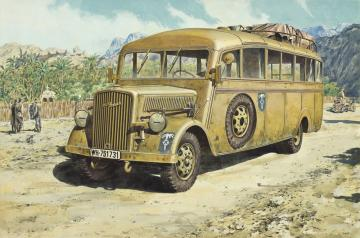 Opel Blitz Omnibus model W.39 Ludewig-bu · RD 721 ·  Roden · 1:72