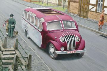 Opel Blitzbus Straßenzepp Essen · RD 725 ·  Roden · 1:72