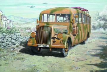 Opel Blitz Omnibus W39 (Late WWII serv.) · RD 726 ·  Roden · 1:72